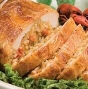 Chicken Breast Stuffed with Crawfish Jambalaya