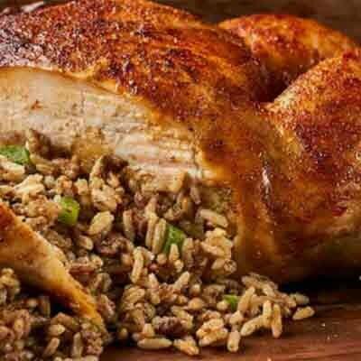 Deboned Boudin Stuffed Chicken