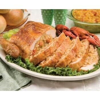 Deboned Crawfish Jambalaya Stuffed Chicken