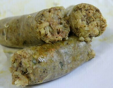 Pork and Jalapeño Boudin