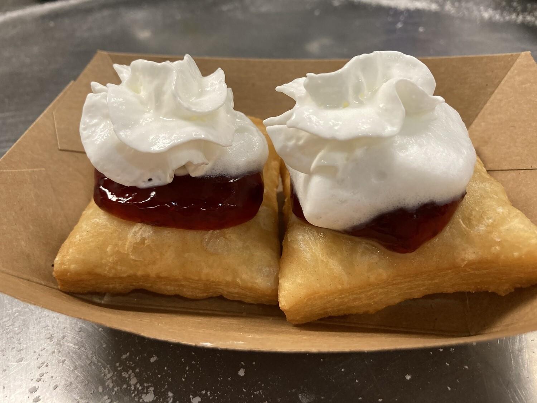 Strawberries and Cream Beignets