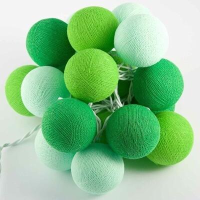 Feenlichter Bälle Bamboo, Cottanball LED Lichterkette 20 Lichter