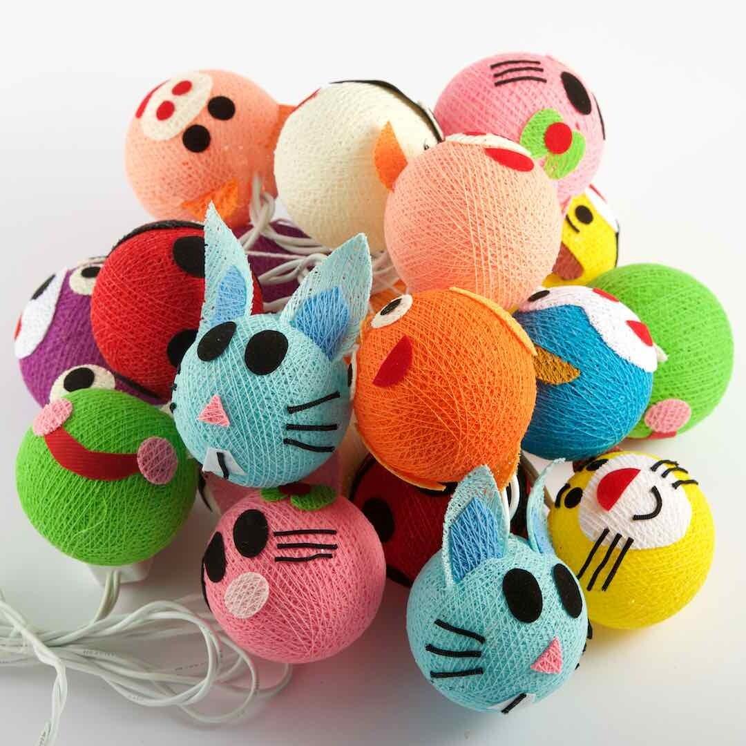 Feenlichter Bälle Kitty & Friends, Cottanball LED Lichterkette 20 Lichter