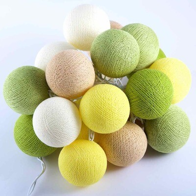 Feenlichter Bälle Lemonade, Cottanball LED Lichterkette 20 Lichter