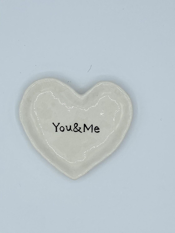 HK9937 You & Me Heart Dish