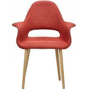 Chair, Organic Cotton Wing Chair (Orange) 28.25 x 24.5 x 36.5
