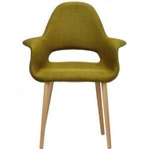 Chair,  Organic Cotton Wing Chair (Green) 28.25 x 24.5 x 36.5