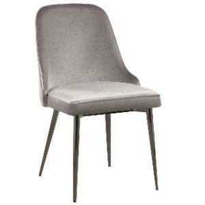 Chair, Stevie Accent Chair (Silver Velvet) 30 x 32 x 43