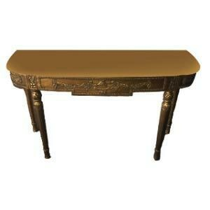 """Console Table, Ornate (Gold, Table Changeable top) 4'7""""L x 18""""W x 2'6""""H"""