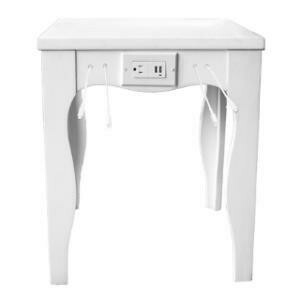 Charging Station, Victoria End Table (White)