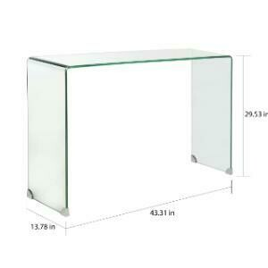 Console Table, Glass 13.8 x 43.3 x 29.3