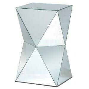 End Table, Mirror Geometric