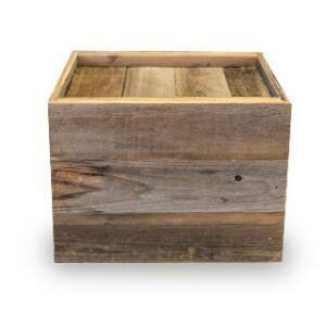 End Table, Wooden Box 22 x 16 x 22