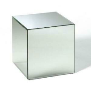 End Table, Mirror Cube