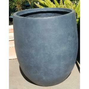 Planter, Large Concrete Cylinder (Dark Grey)