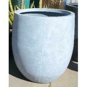 Planter, Large Concrete Cylinder (Light Grey)