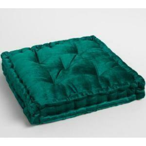 Seating, Tufted Velvet Floor Cushion (Teal) 22