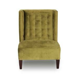 Chair, Neil Velour Lounge Chair (olive green) 30 x 32 x 43