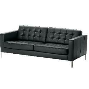 Grouping, Headliner Collection (Black Leather) - Sofa