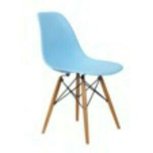 Chair, Mid Century Chair (Light Blue) 18 x 15 x 32