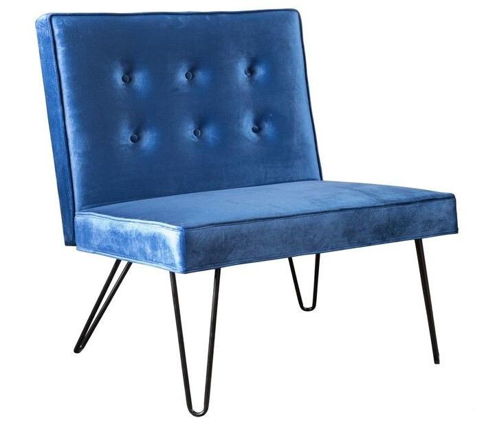 Chair, PHAT - Armless (Blue) 32 x 29 x 35.5