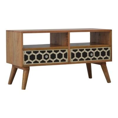 Coffee Table, Bone Inlay 3x1.2x1.6