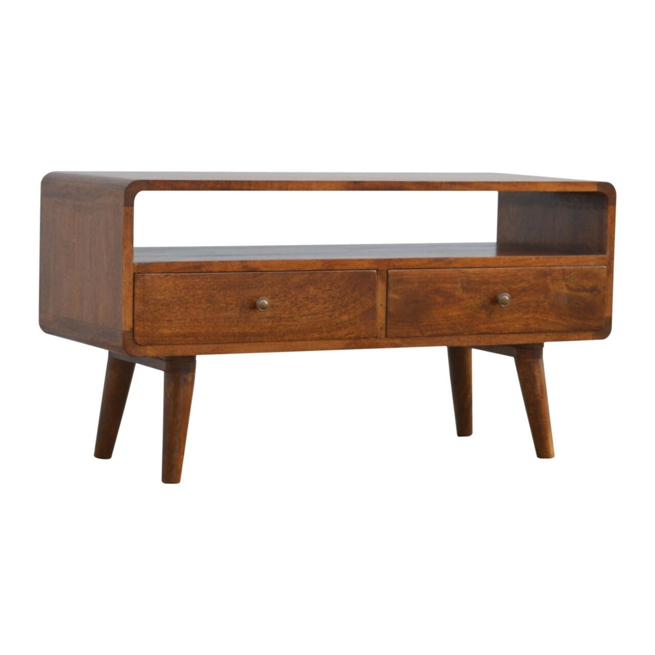 Coffee Table, 2 Drawer Curved  3 x 1.2 x 1.6