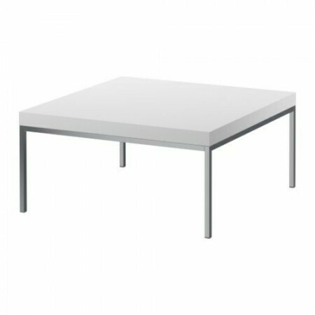 Glossy White/Chrome Coffee Table