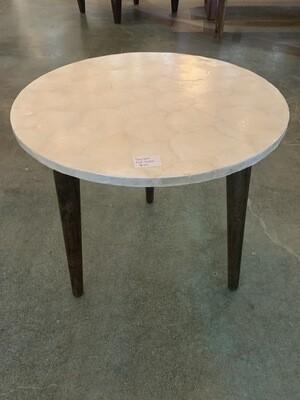 Table, White Seashell End