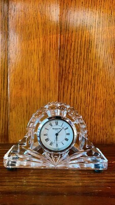 Waterford Cottage Crystal Clock