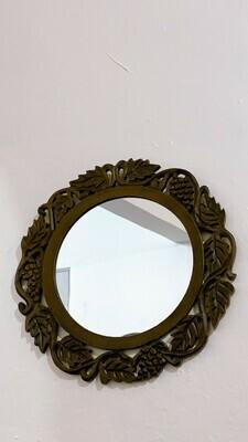 "Leaf Pinecone 11"" mirror"