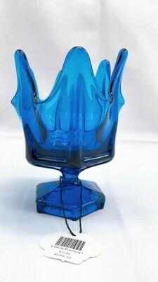 Vintage Viking Bluenique Footed Vase