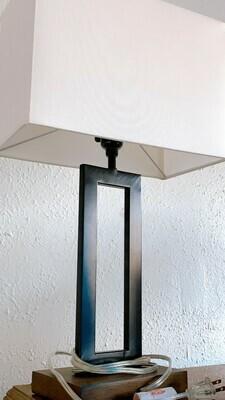 Black Weston Modern Metal Tabletop Lamp