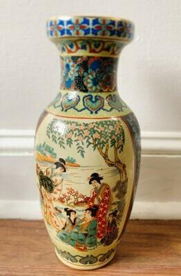 Vintage Japanese Satsuma Vase Hand Painted
