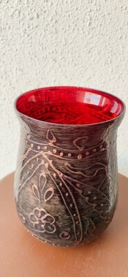 Ruby Vase Tealight Candle