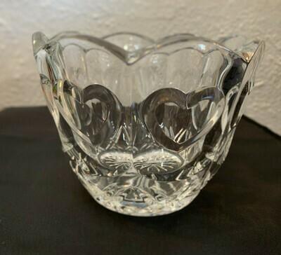 "Crystal Heart Bowl/Vase 4"" x 5 1/4"""