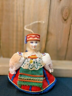 """Vintage Russian Doll 3.5"""" (Red Dress)"""