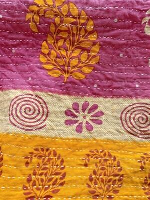 Vintage Kantha Quilt Blankets
