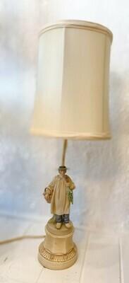 Vintage Figurine Man Lamp