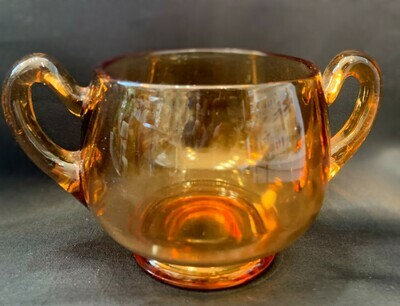 Butterscotch Amber Sugar Bowl