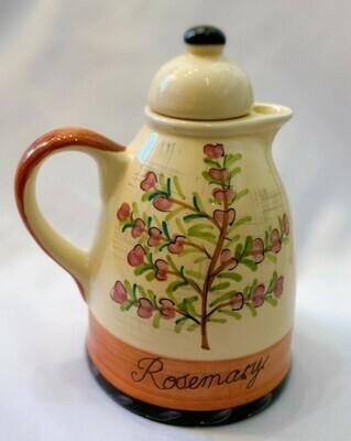 Rosemary Oil Or Vinegar Cruet & Stopper Culinary Herbs by CIC