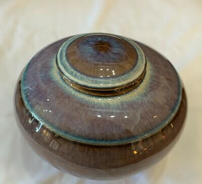 "Decorative Pottery Urn Purple Blues7"" x 5"""