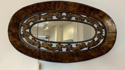 """Metal Oval Intricate Mirror 28"""" x 16"""""""