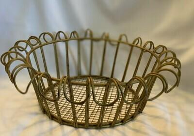 """Gold Wire Basket 9 1/2"""" x 3"""""""