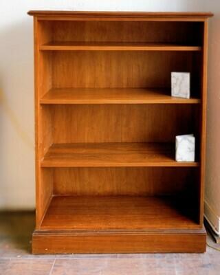 "Vintage Solid Wood  Bookcase 4-Level 52""h  x  38""w  x15""d"