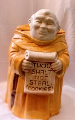 1970s Monk Cookie Jar Thou Shalt Not Steal Cookies Made in the Usa