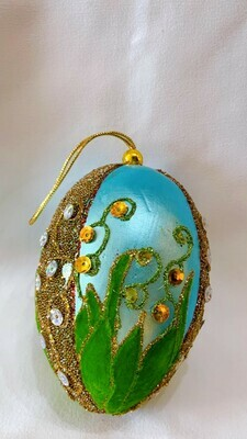 Faberge Egg Handcrafted Ornament
