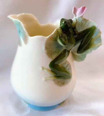 Franz Porcelain Frog Milk Jug