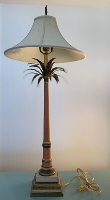 """Vintage Palm Tree Lamp 37"""""""