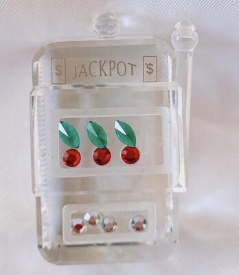 Vintage Jackpot Crystal Figurine